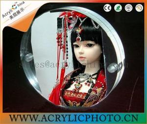 Circular acrylic photo frame